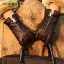 WARMEN皮手套女士真皮 冬季保暖时尚加厚真皮手套女羊皮 L050PC