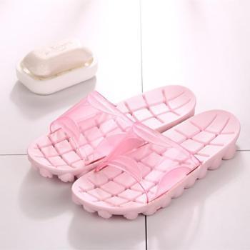 日式浴室防滑拖鞋 洗澡漏水洞洞鞋 软底凉拖鞋
