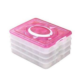 宜周四层72格速冻饺子盒保鲜盒