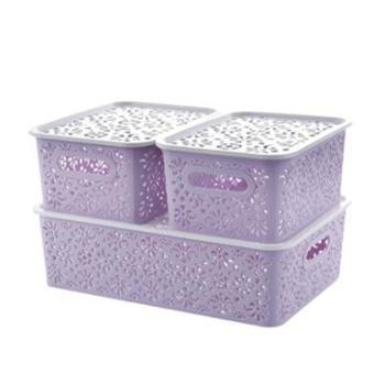 欧式收纳盒三件套多功能整理箱