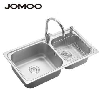 Jomoo九牧 厨房水槽 双槽 洗菜盆不锈钢水槽 02016