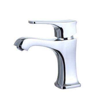 JOMOO九牧铜镀铬简欧单把单孔镀铬洗手盆浴室柜面盆龙头32284