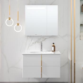 JOMOO九牧浴室柜组合洗手盆柜洗脸盆洗漱台轻奢智能镜柜A2257