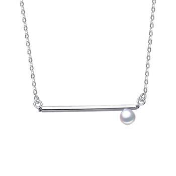 925银时尚珍珠项链日式可爱时尚简约项链吊坠包邮