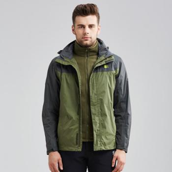 塞沃斯冲锋衣男女士三合一秋冬季可拆卸户外登山保暖两件套