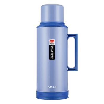 SIMELO印象京都玻璃内胆72H新东风保温瓶2000ML(蓝色)