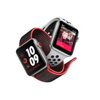 AppleWatchSeries3智能手表(GPS+蜂窝网络款42毫米深空灰色铝金属表壳黑色运动型表带