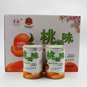 多国桃知味黄桃罐头425g*12罐