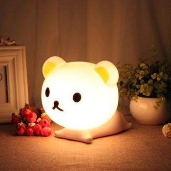 兰森UB熊莱福猫卡通创意轻松熊调光灯轻松熊台灯儿童床头灯气氛夜灯灯泡可换