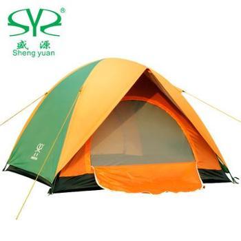 盛源防暴雨帐篷特价多人双层3-4人露营双人野营帐篷户外