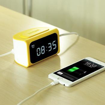 Remax智多星LED多功能闹钟 4USB充电床头时尚时钟 平板手机充电器