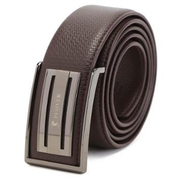 啄木鸟高级牛皮皮带腰带板扣型GDP-160505B棕色