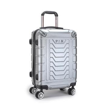 啄木鸟高端商务拉杆箱万向轮带杯架旅行箱GD2582-24Y:银色