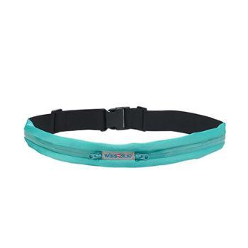 维仕蓝wissblue多功能贴身运动双袋腰包带TG-WB1065