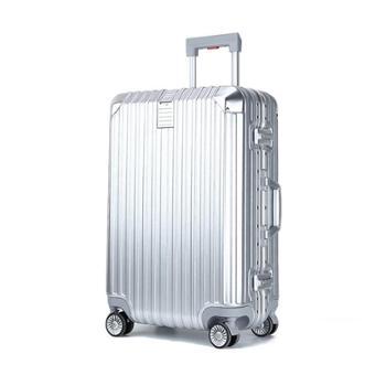 礼想之光(DREAMGIFT)耐磨防刮拉丝纹理铝框拉杆箱26寸DG7019
