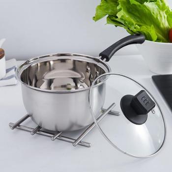 不锈钢奶锅汤锅加厚煮面小奶锅迷你小锅泡面热奶锅电磁炉燃气通用