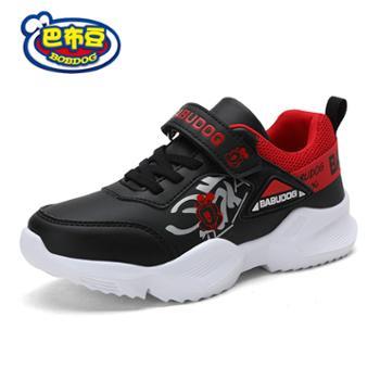 巴布豆男童鞋子2019年款棉鞋儿童运动鞋软底防滑学步男童