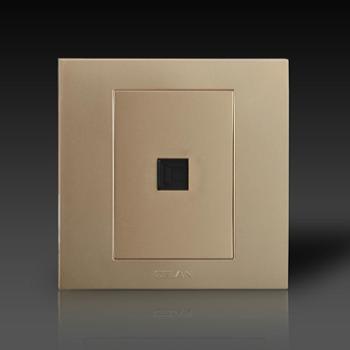 gelan开关插座面板G3-503一位电脑插座(金色)