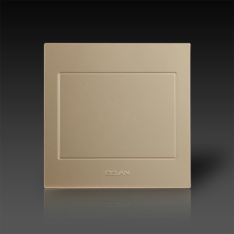 gelan开关插座面板空白面板开关面板插座面板金色