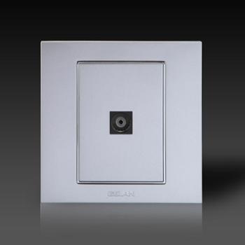 gelan开关电视分配器插座V6-521电视插座一孔电视插座银色