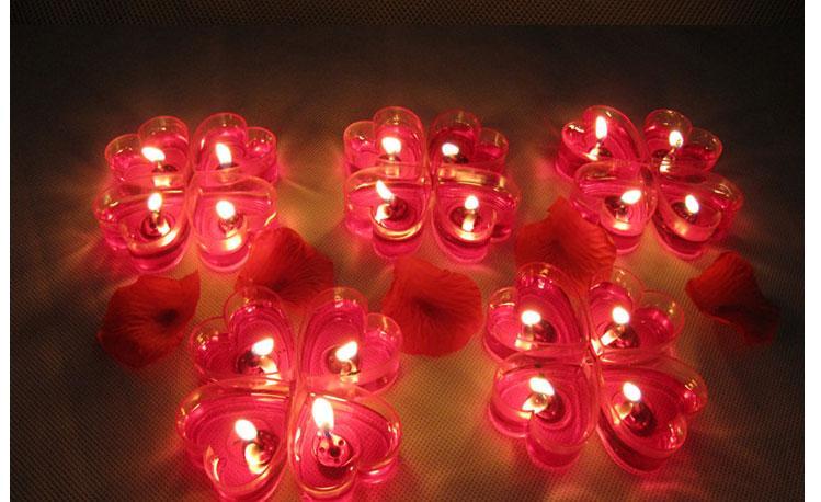 心形果冻蜡烛爱心求婚庆无烟浪漫生日表白心型蜡烛