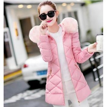 爱情雪2016秋冬季新款棉衣女 中长款修身显瘦保暖毛领棉袄服外套