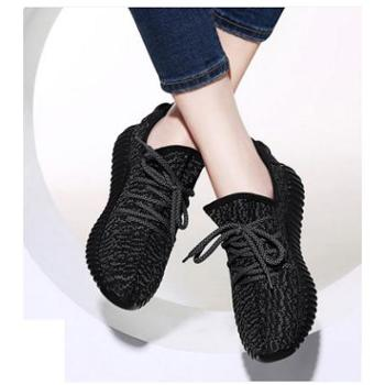 运动鞋女休闲鞋黑色韩版跑步鞋学生女鞋子冬季新款潮2016百搭单鞋