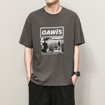 依采奴 夏季男士短袖T恤潮流潮牌