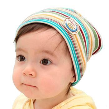 小贝狸针织帽婴儿帽子秋冬儿童无檐帽宝宝套头帽头围36cm~40cm