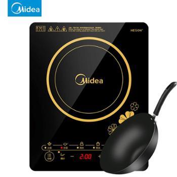 Midea/美的C21-RT2140电磁炉家用触摸式薄款电池炉黑晶面板礼品家电