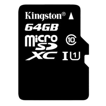 金士顿(Kingston)16G/32G/64G/128G读速80MB/sU1内存卡TF(MicroSD)存储卡高速升级版连续拍摄更流畅