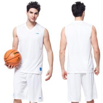 正品LINING李宁运动套装男子篮球背心+短裤篮球服套装039-1