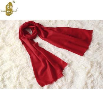 冬款女士围巾披肩大红色百搭时尚羊毛围巾披肩 韵物品牌