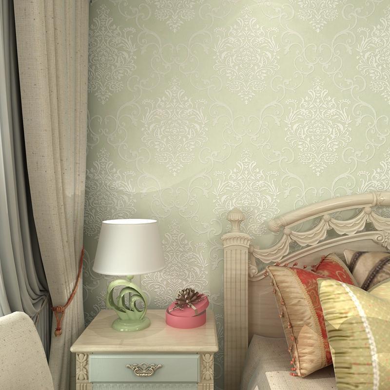 歌诗雅美式复古墙纸 欧式卧室客厅电视背景墙