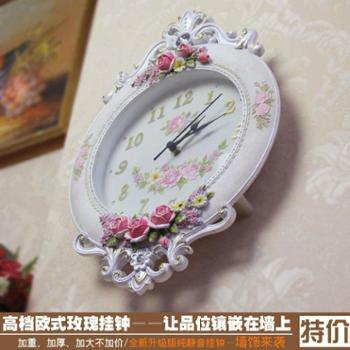 高档家居装饰墙上挂钟玄关客厅创意大时钟欧式墙壁挂纯静音大钟表