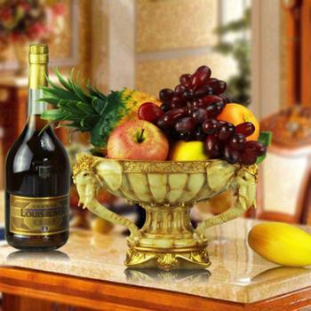 欧式家居装饰品摆件乔迁婚庆礼品餐厅摆设创意手工艺术大象水果盘