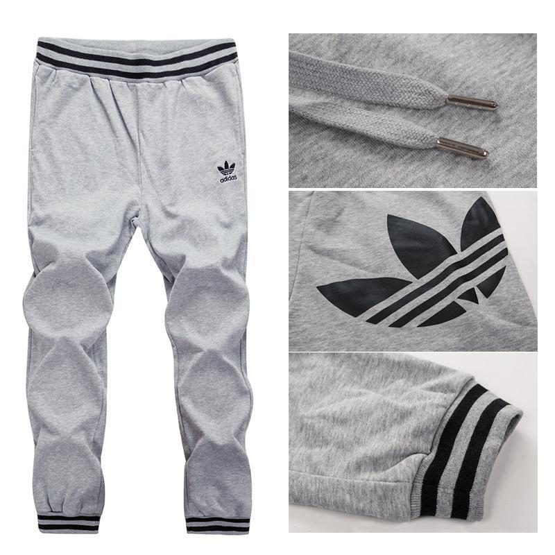 阿迪达斯 adidas运动裤长裤男裤三叶草收脚小款休闲纯棉长裤