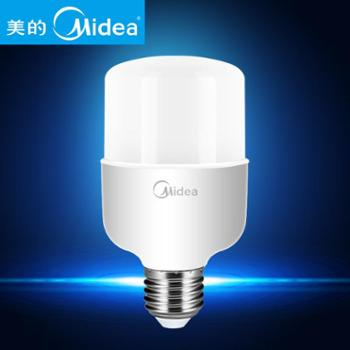 美的(Midea)照明led大螺口柱形灯泡20w节能灯球泡e27大功率6500K