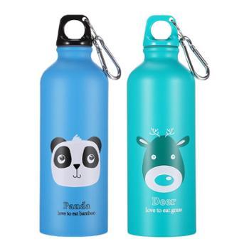 合安E家不锈钢动物水壶500ml创意杯运动水杯K605