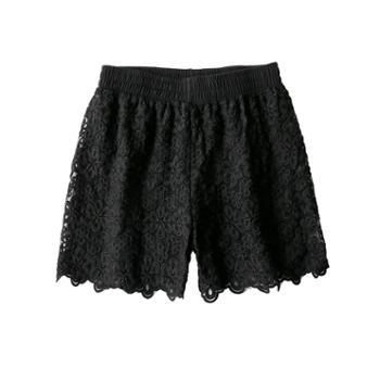 SOBO蕾丝双层防走光安全裤女士可外穿平角打底裤