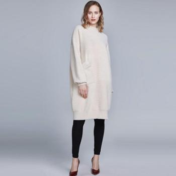 戎立特新款女士时尚貂绒衫FW8081