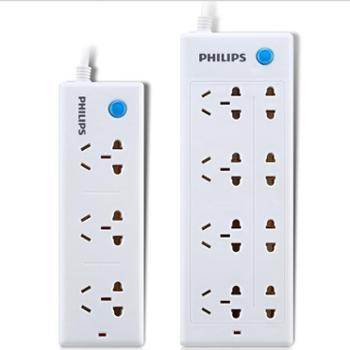 飞利浦(PHILIPS)8位1.8米+3位1.8米特价套装插座插排插线板接线板
