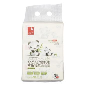 简沃本色面巾纸3包装(130抽*3包)2提
