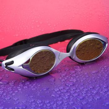 浪胜正品泳镜防水防雾高清男女平光游泳眼镜