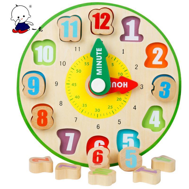 一点木质儿童玩具数字时钟/早教益智玩具