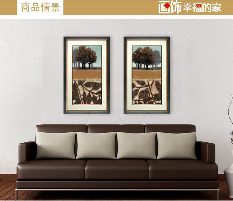 家的心饰速写植物两联走廊沙发背景墙客厅挂画酒吧餐厅墙画卧室床头