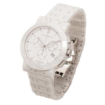 正品BURBERRY手表 圆形蝴蝶扣陶瓷中性时尚男女腕表BU1770