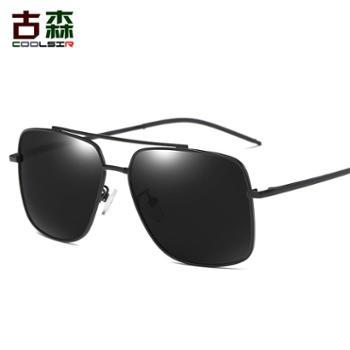 古森男士新款偏光太阳眼镜经典时尚方形6018墨镜驾驶眼镜