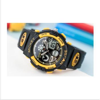 儿童手表男孩电子表防水男童夜光运动米奇学生手表