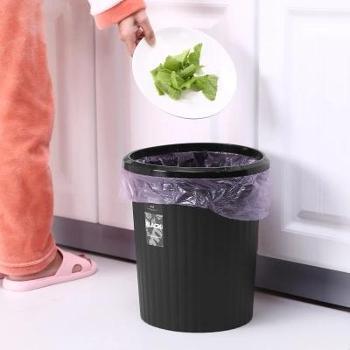 厨房垃圾桶家用大号无盖客厅卧室卫生间可爱欧式塑料筒大容量纸篓